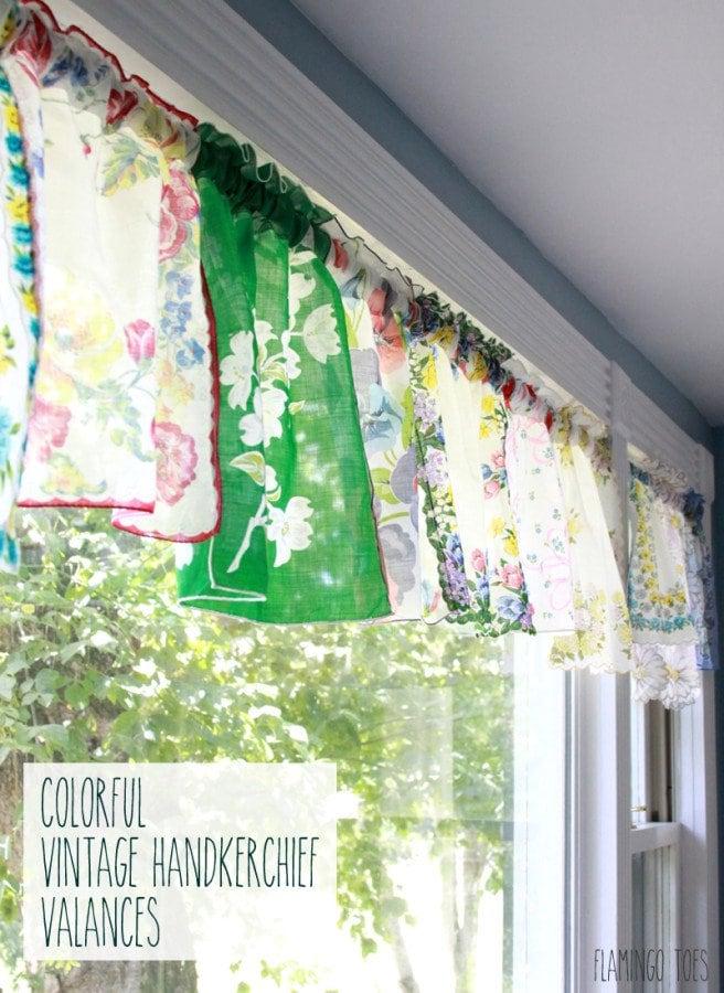 Vintage Handkerchief Valance