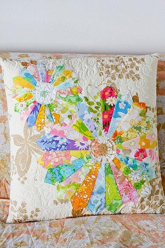 Vintage Sheet Dresden Pillow @ In Color Order