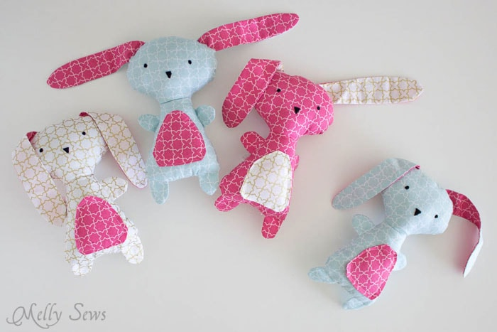 Cute DIY Easter Bunny Sewing Pattern from MellySews