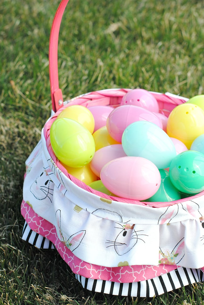 How to Make a Ruffled Easter Basket by Amber of crazylittleprojects.com