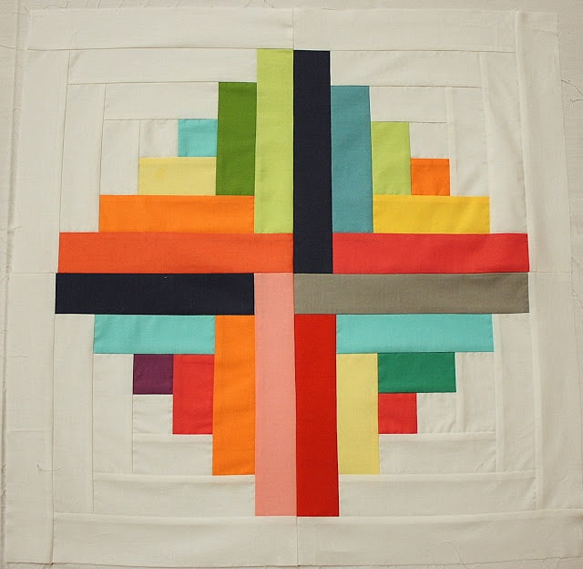 Log Cabin Quilt Block - love the Modern Style