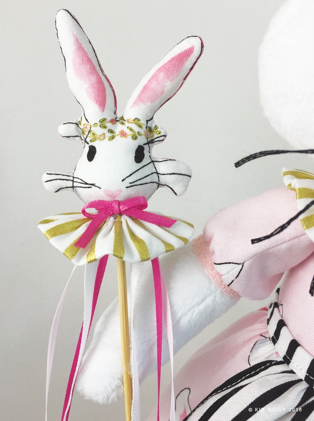 Bunny Queen Phoebe Softie by KidGiddy - using Wonderland Fabric