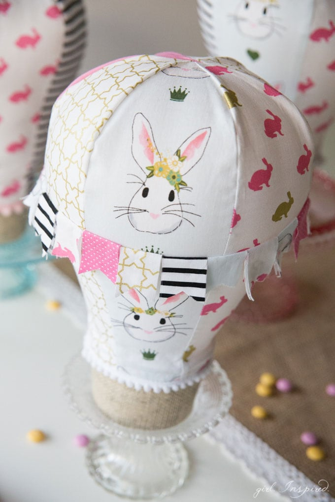 Fabric Hot Air Balloon Sewing Pattern by Girl. Inspired.