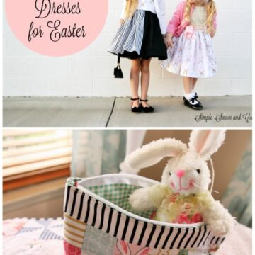 Adorable Spring & Easter Sewing ideas using Wonderland Fabric!