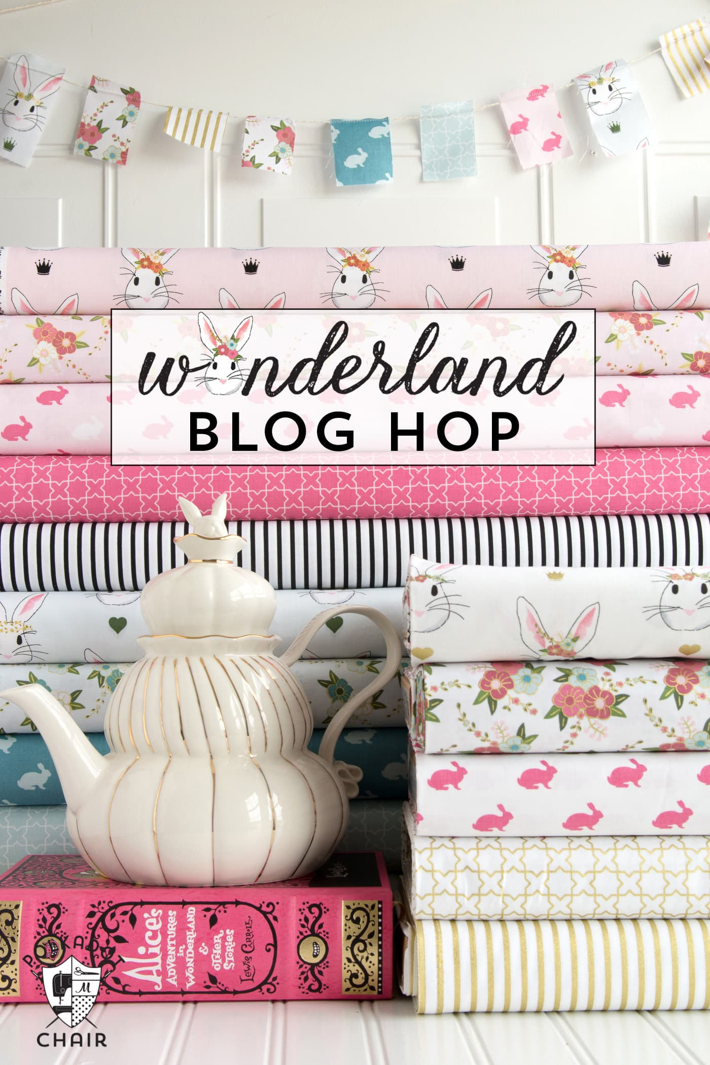 A blog tour full of great ideas using Wonderland Fabric. Sewing patterns, projects and craft ideas for Spring and Easter!