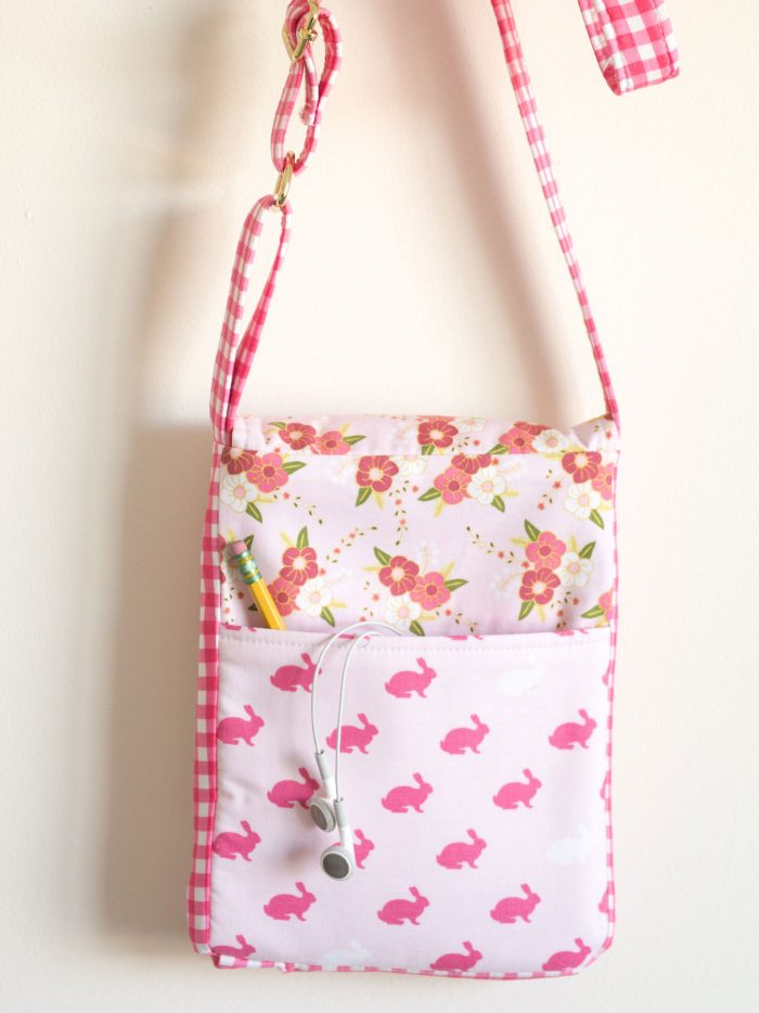 The June Bag; A mini messenger cross body PDF sewing pattern; great travel bag to sew