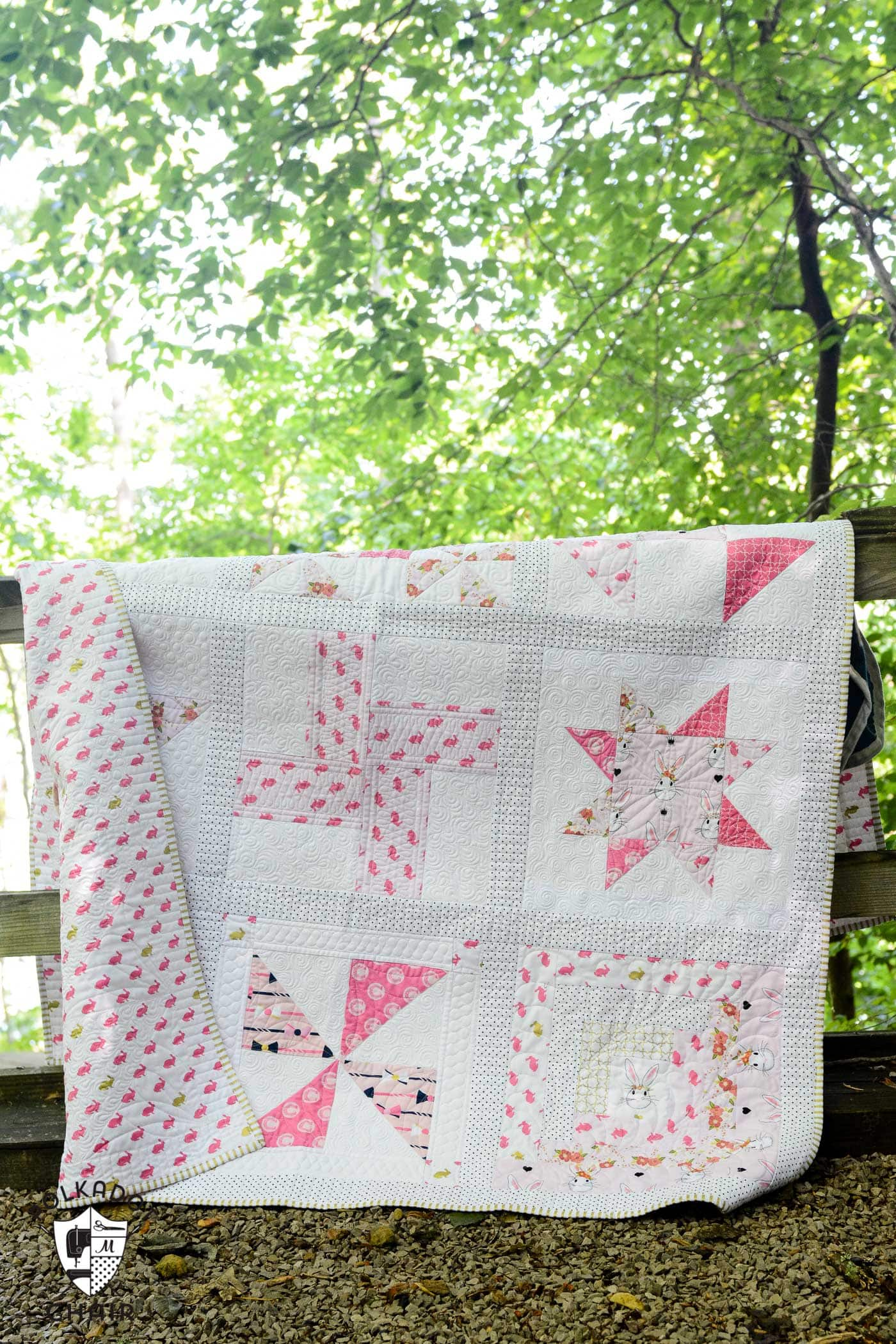 The June Quilt Block of the month; a free quilt tutorial and pattern for a Grandma's Favorite Quilt Block on polkadotchair.com