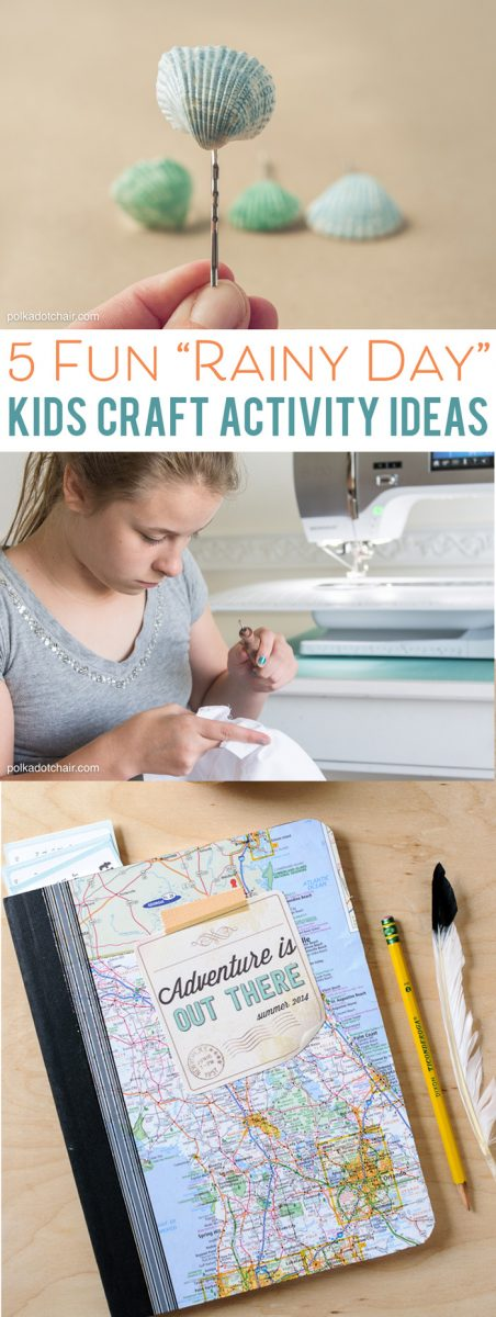 Ideas for Activities to keep kids occupied on Rainy Days!