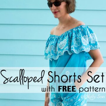 Free Shorts Sewing Pattern from MellySews.com