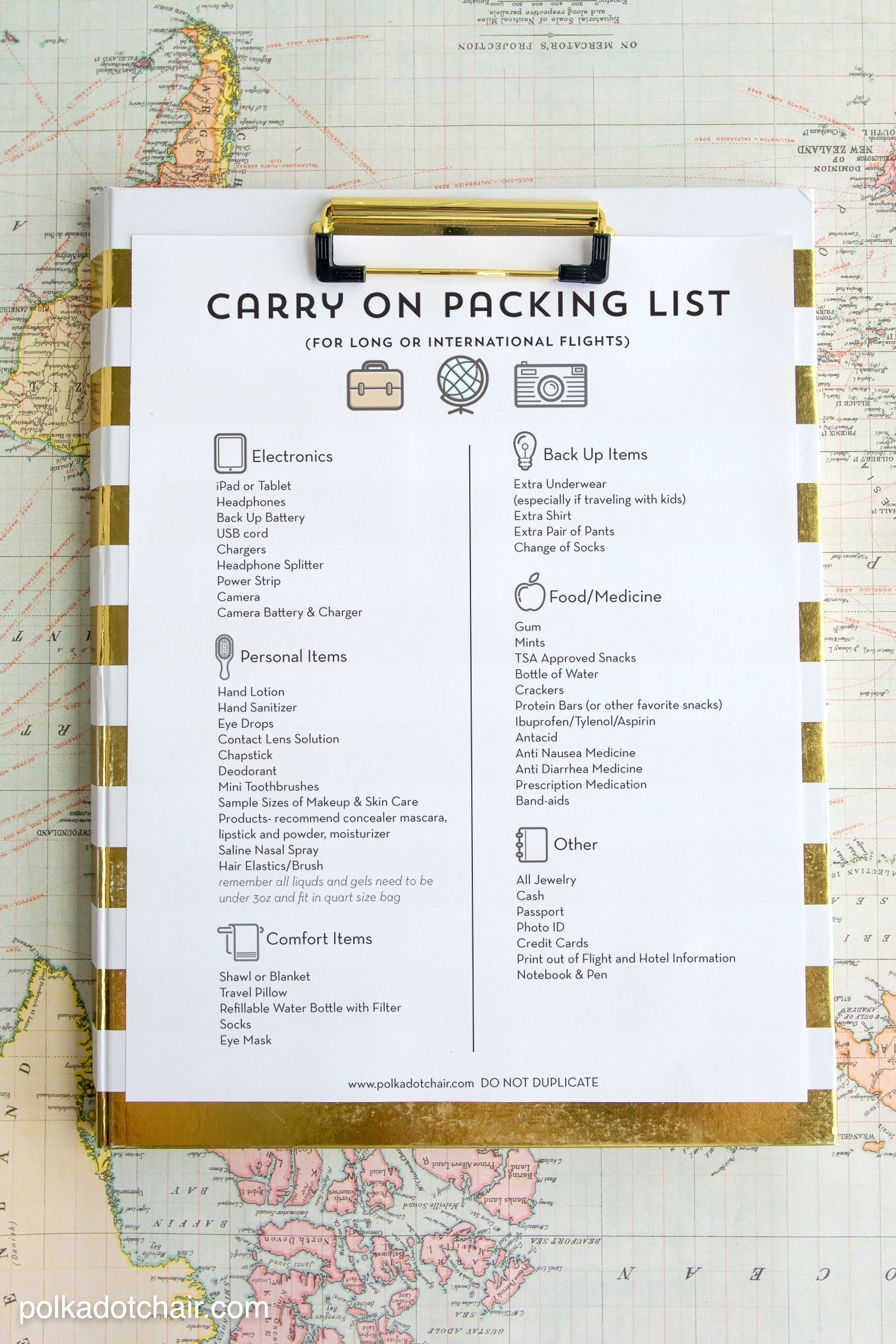 This is a graphic of Free Printable Packing List regarding holiday packing