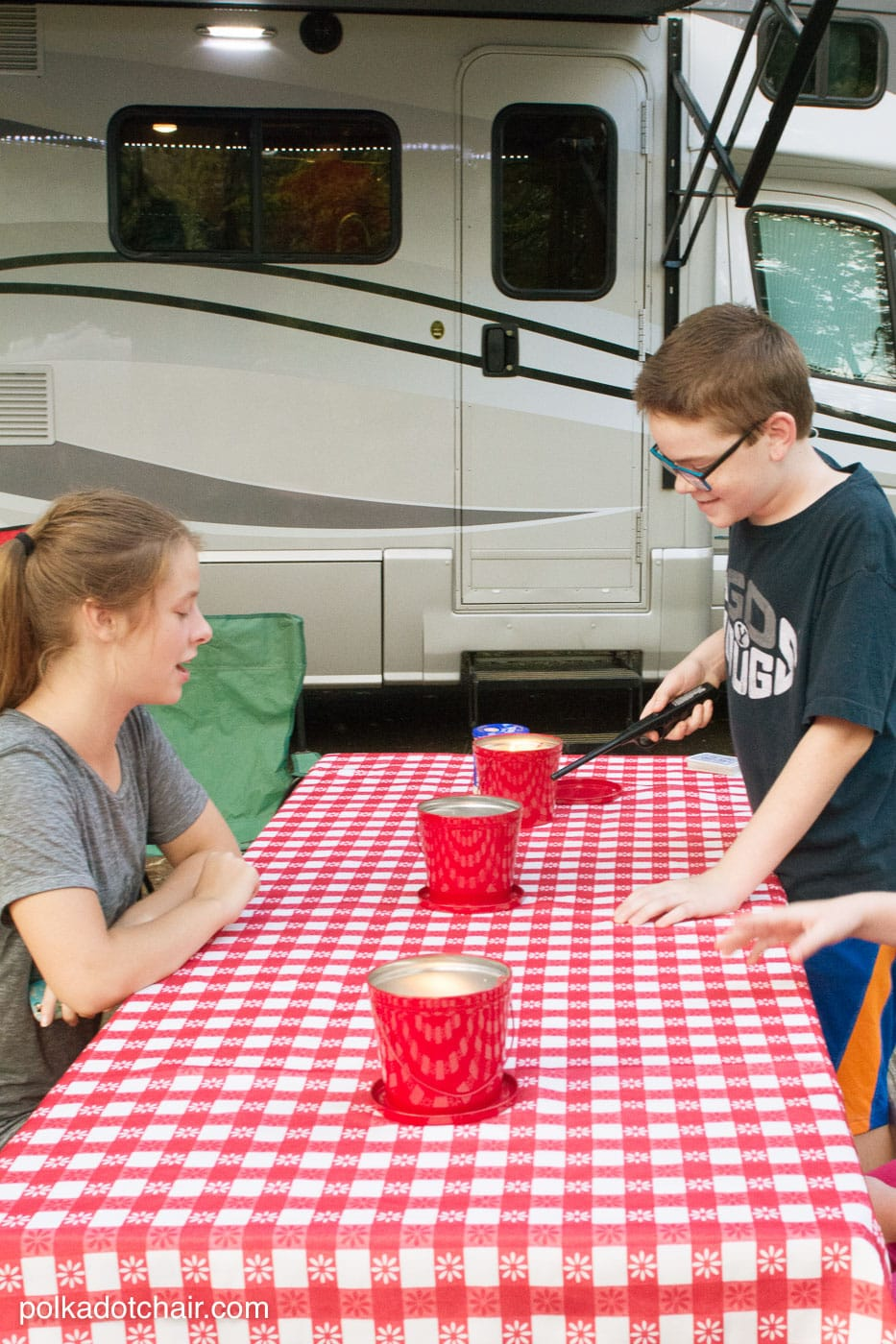 """Free tutorial for a Hit the Open Road pillow, a fun DIY project for an RV or camper. Plus why our family loves to """"Go RV'ing"""""""