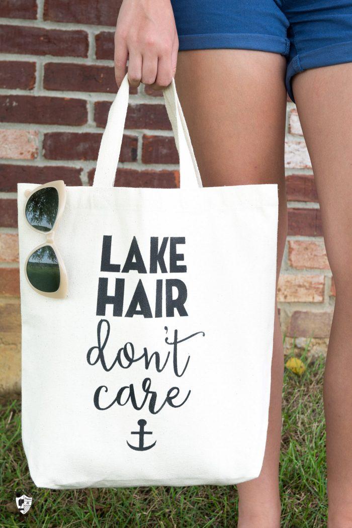 Lake Hair Don't Care Tote Bag