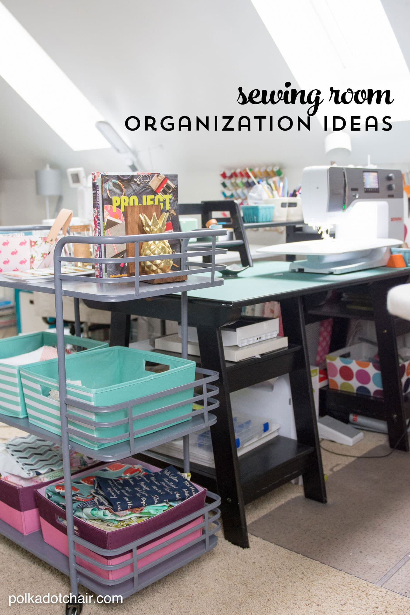Cute Sewing Room organization ideas