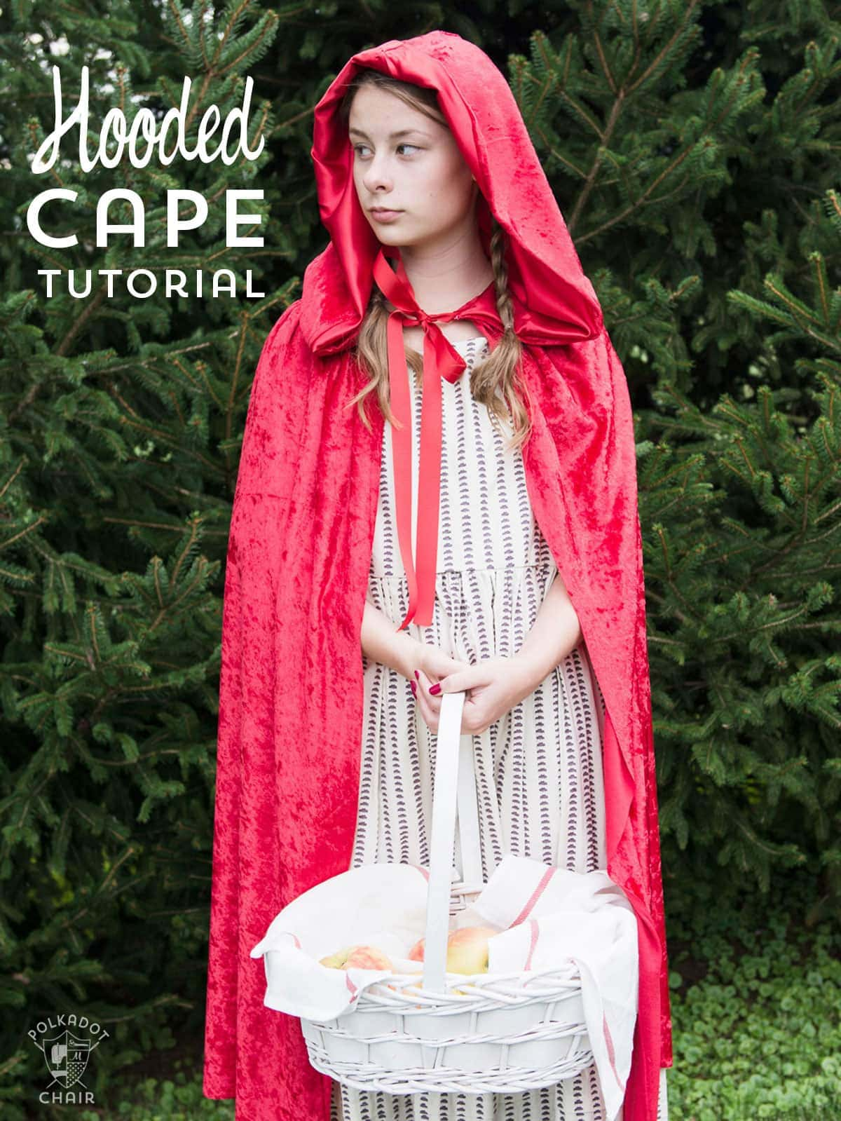 How to make a hooded cape for Halloween - tutorial teaches you how to resize it for kids or adults