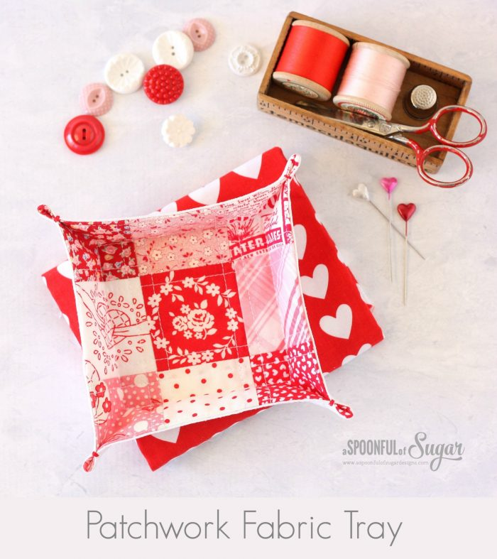 Patchwork Fabric Tray Tutorial by A Spoonful of Sugar