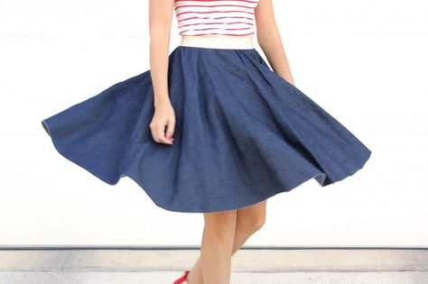 Circle Skirt tutorial by Dana Made It