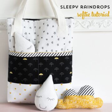 """Sleepy Raindrops"" a free softie sewing pattern - makes a cute baby shower gift idea!"