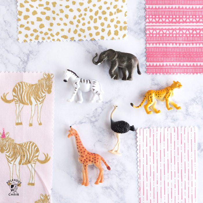 A sneak peek of Safari Party Fabrics by Melissa Mortenson for Riley Blake Designs, coming in July 2017