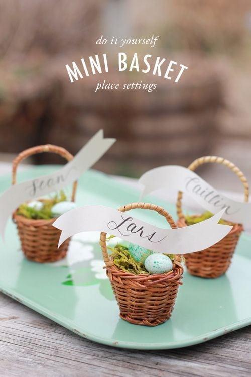 Mini Basket Table Settings