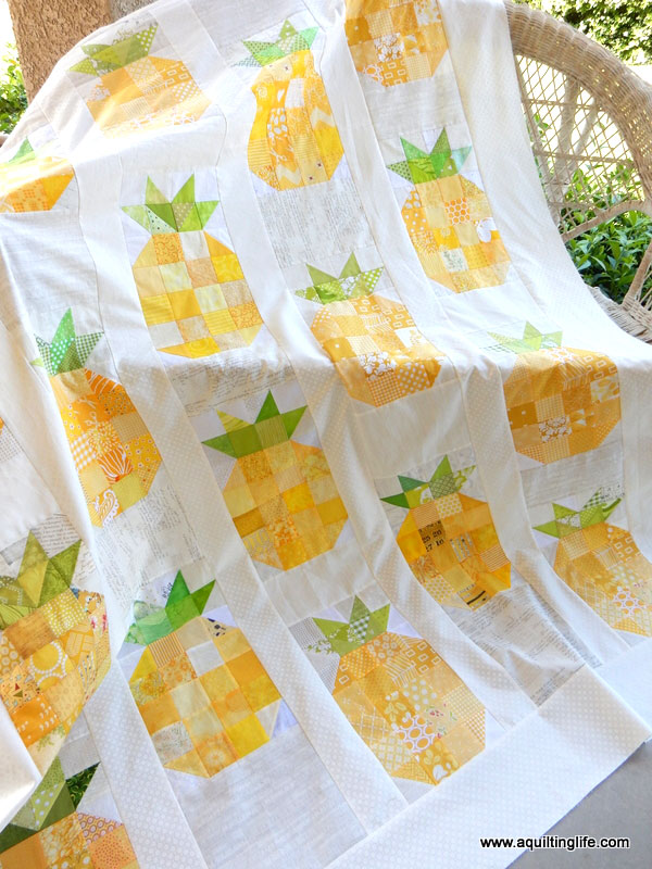 Cute pineapple quilt project by A Quilting Life - would make such a fun summer quilt project
