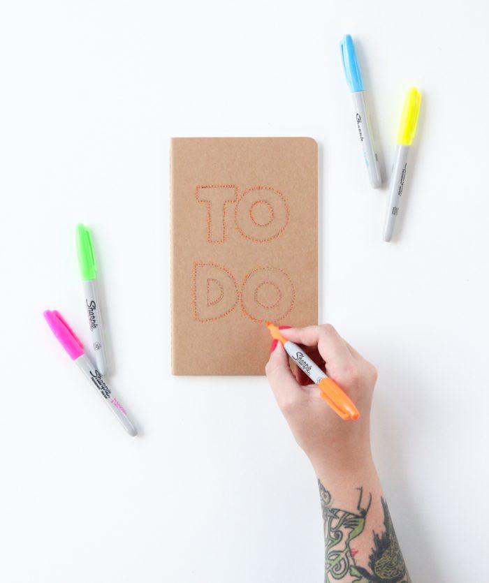 Pointillism DIY Notebook Covers