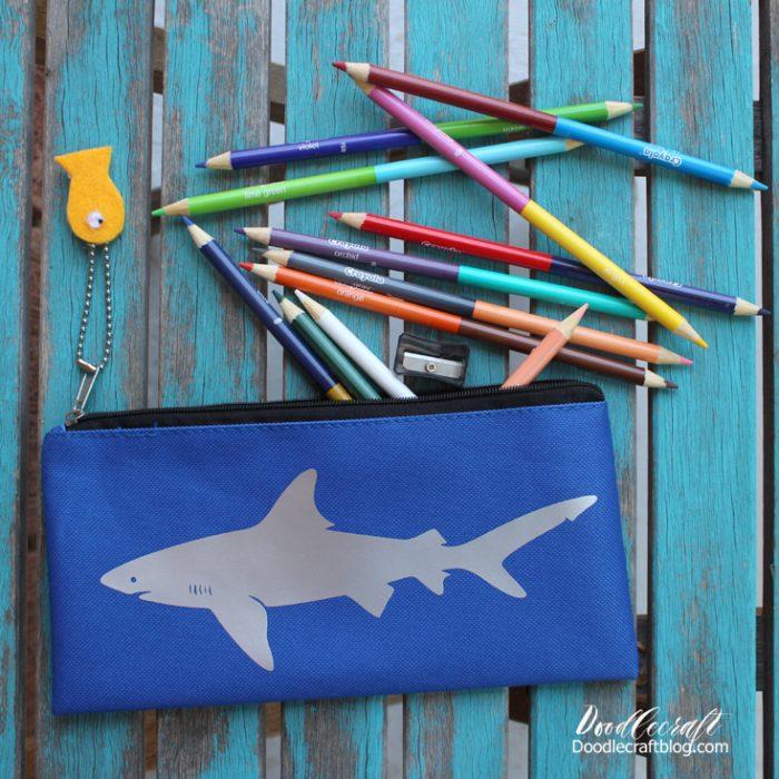 DIY Shark Pencil Pouches