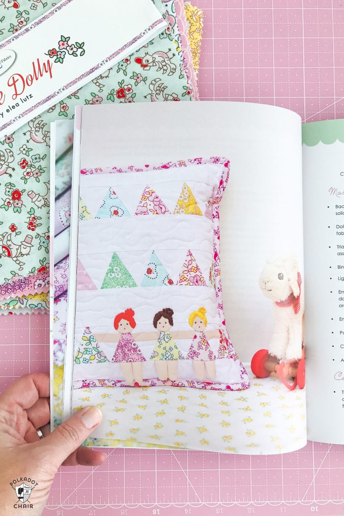 Review of the Dolly Book by Elea Lutz- lots of cute patterns for handmade dolls and accessories