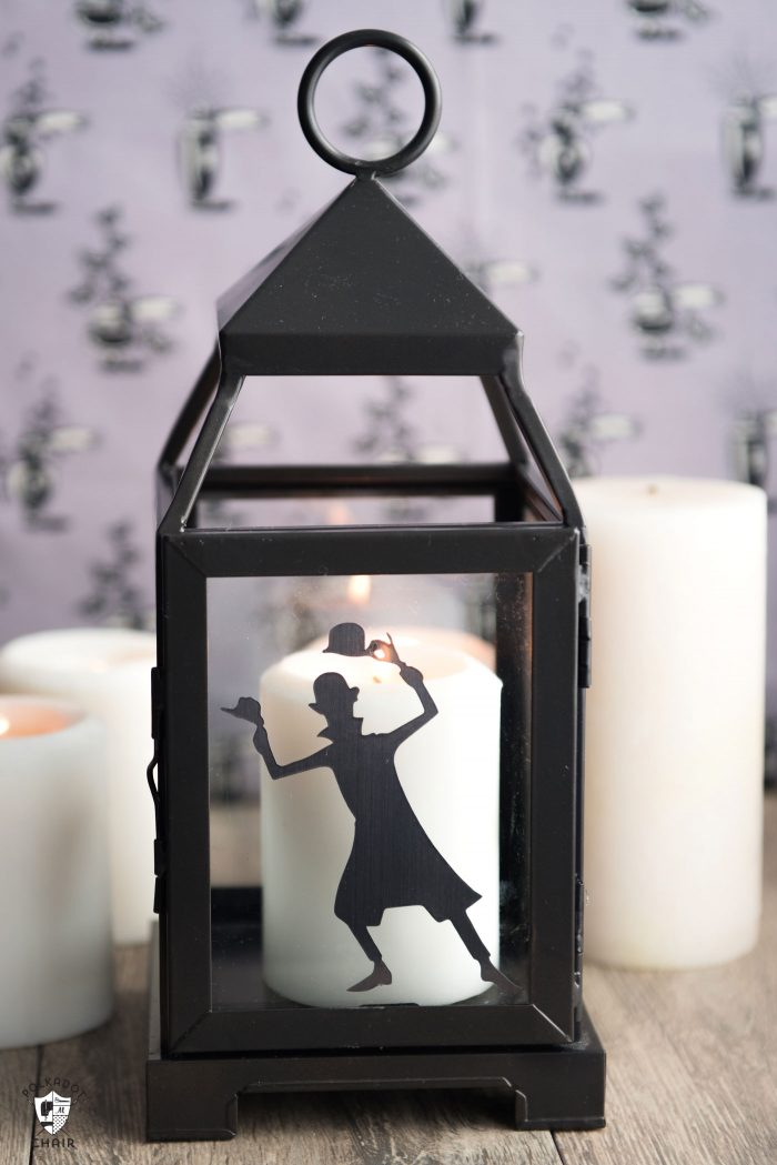 DIY Halloween Decorating Ideas inspired by the Haunted Mansion - how to make cute Haunted Mansion Lanterns. Includes free cut files for your Cricut.