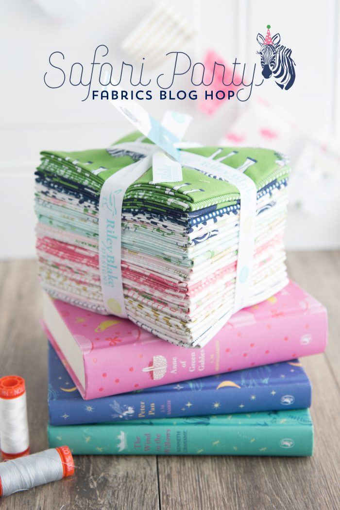 Lots of fun and cute sewing and quilting ideas using Safari Party Fabrics by Melissa Mortenson for Riley Blake Designs