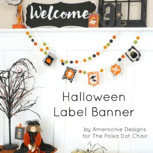 DIY Fabric Halloween Banner tutorial - with free applique pattern! #halloween #halloweensewing #halloweenbanner #sewing #sewingproject #halloweensewing #halloweencrafts #halloweenpatterns #embroidery #applique #freepatterns