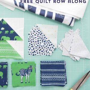 Seasonal Safari Quilt Pattern - offered as a free quilt along this Fall from the polkadotchair.com blog! #quiltalong #freequiltpatterns #rowquilt #quiltingtutorials #quilts #safariparty #rileyblake #melissamortenson #polkadotchair #howtoquilt #learntoquilt