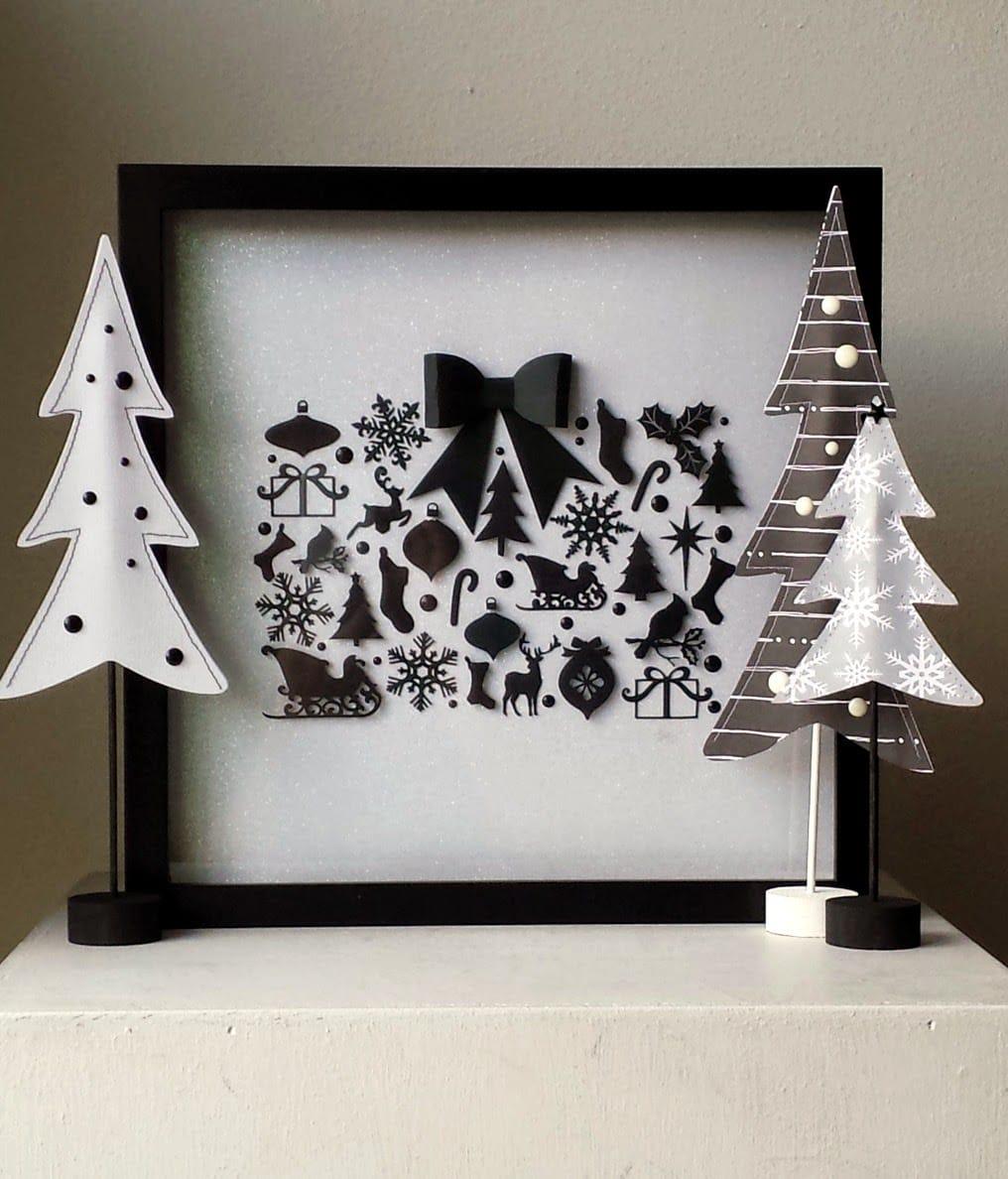 Stunning Black and White Christmas Display and christmas decor idea
