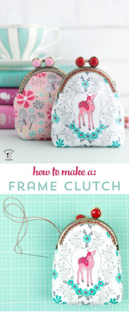 Metal frame purse clutch pattern