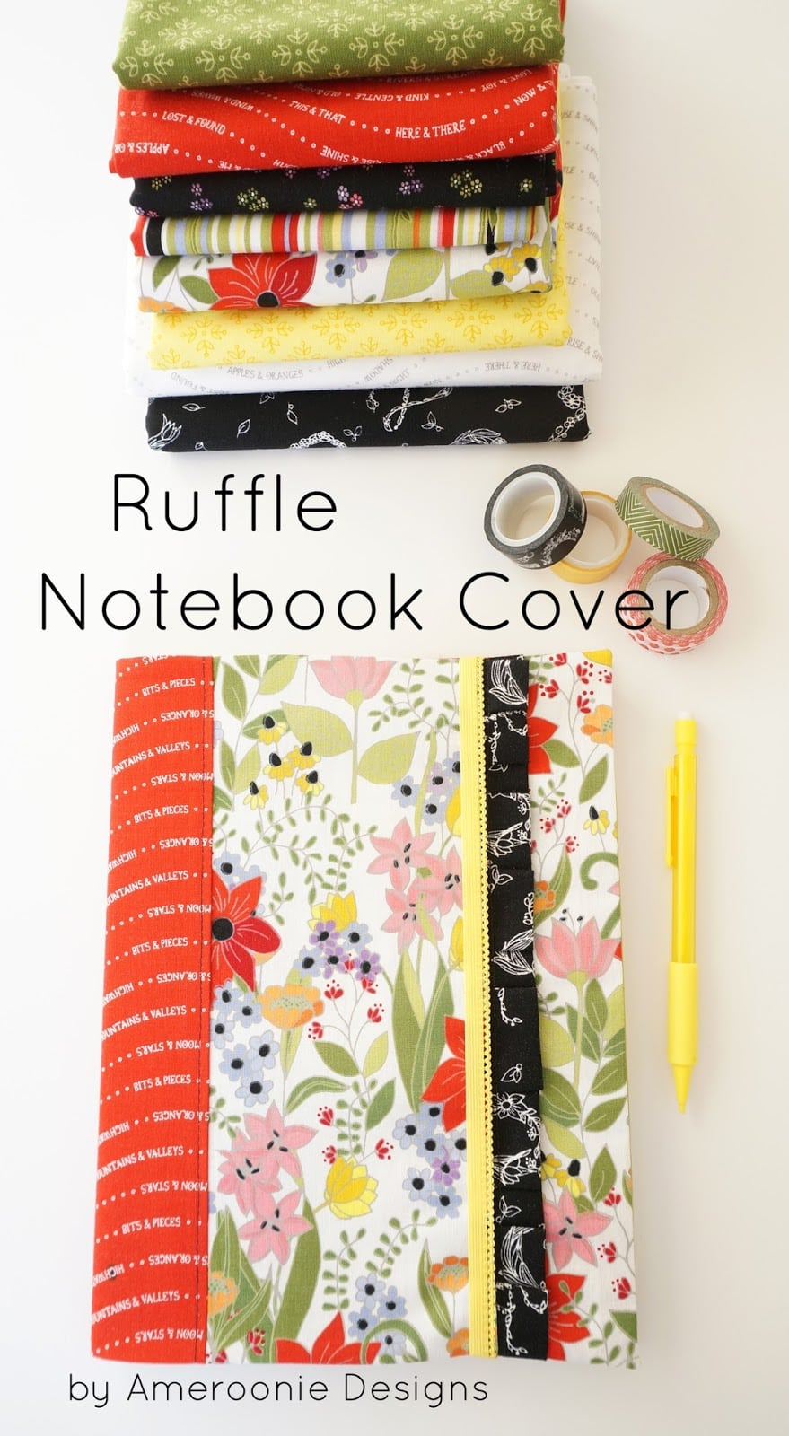 How to make a ruffle notebook cover
