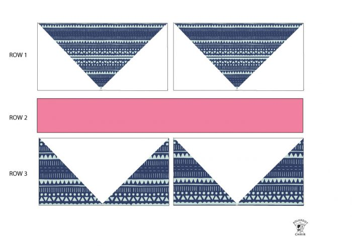 Seasonal Safari Quilt Row Along - block assembly instructions for row 1