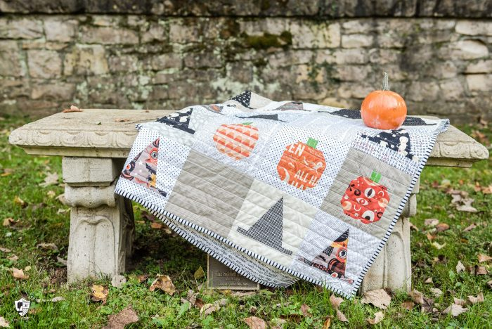 Halloween Haberdashery Quilt by Melissa Mortenson - a cute Witch's Hat Halloween Quilt pattern
