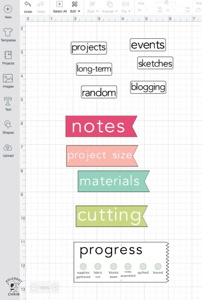 How to make a sewing and quilting planner, including how to make planner stickers using a Cricut print and cut feature. DIY Planner ideas! #projectplanner #diyplanner #diyplannerstickers #quiltplanner #diyquiltplanner #cricutmade