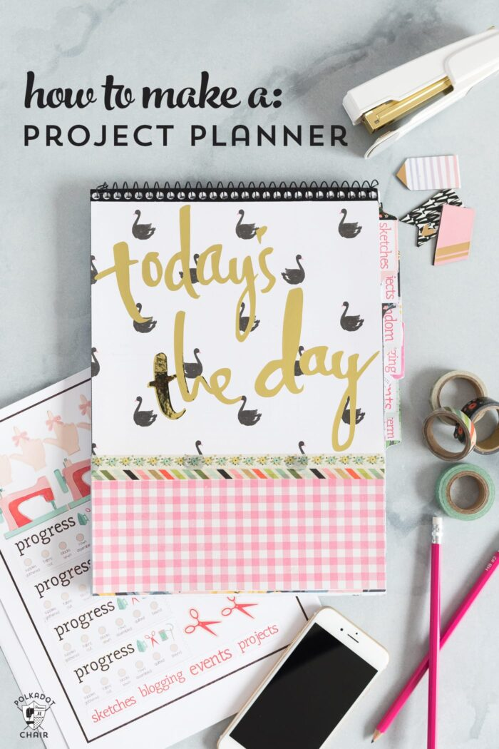 How to make a sewing and quilting planner, including how to make planner stickers using a Cricut print and cut feature. DIY Planner ideas, and how to make a planner! #projectplanner #diyplanner #diyplannerstickers #quiltplanner #diyquiltplanner #cricutmade