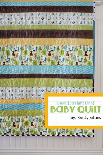 Simple Strips Baby Quilt Pattern