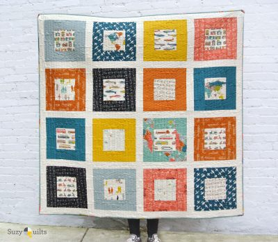Square in Square baby quilt pattern