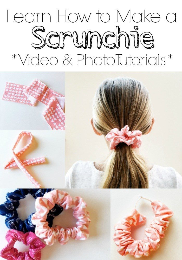 Learn how to sew scrunchies