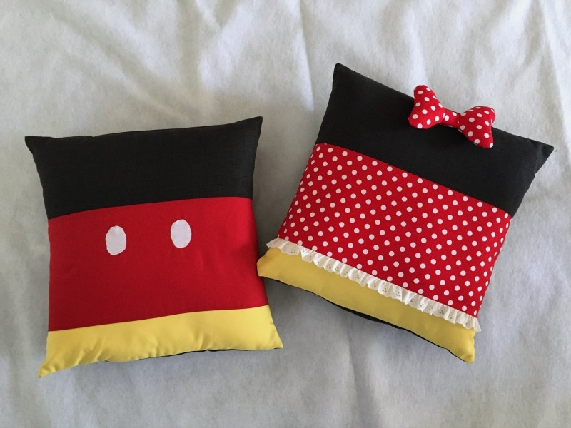 Sewing pattern for Mickey and Minnie inspired pillows