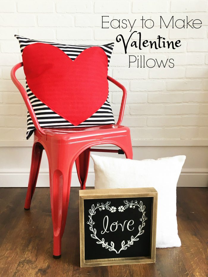 DIY Simple Valentines Day Pillow