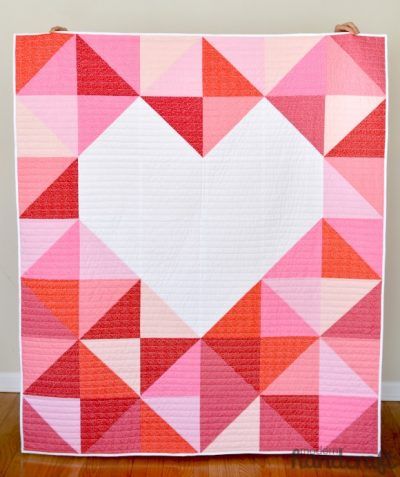 Big Love Heart Baby Quilt Pattern