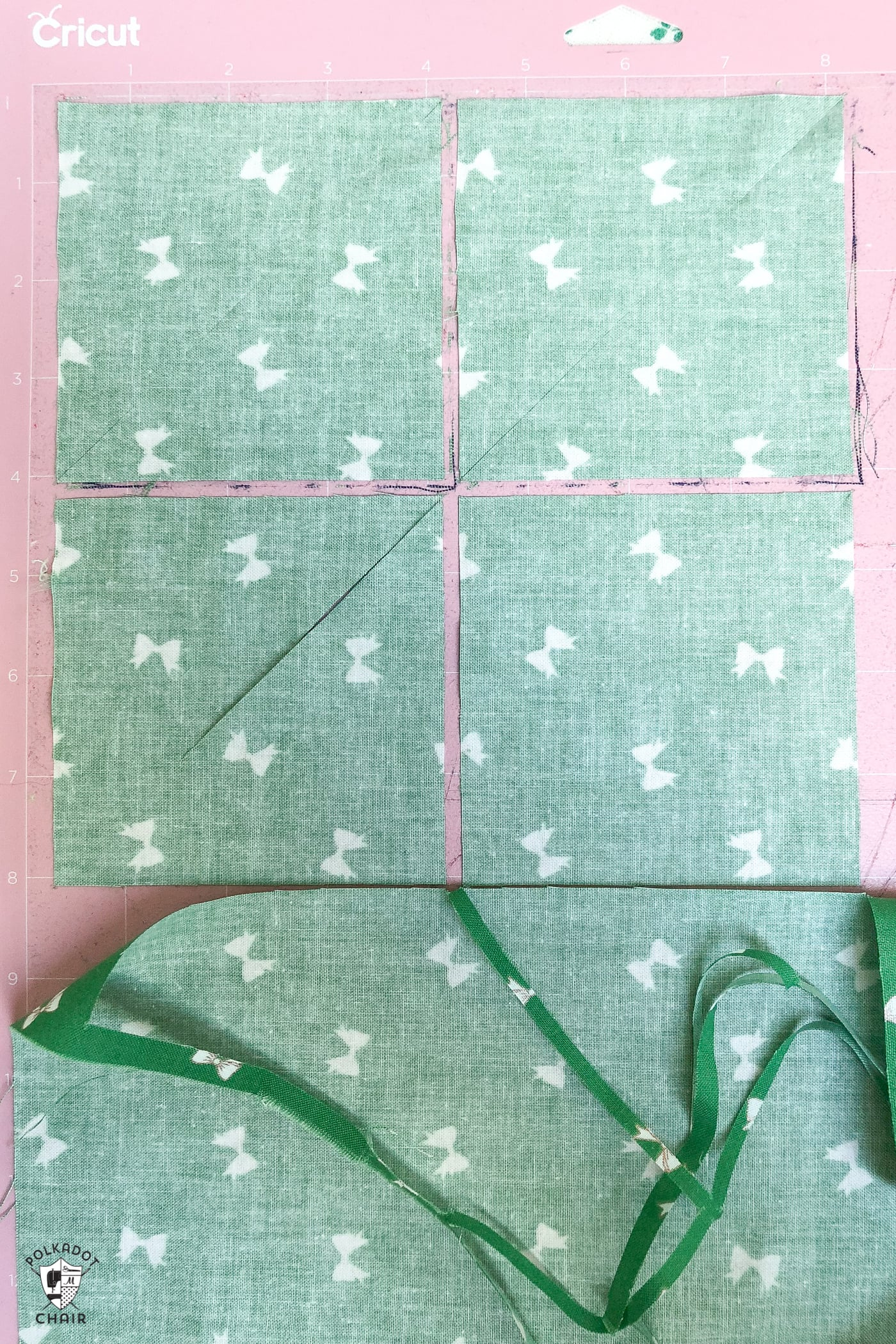 How to cut half square triangles with the cricut maker