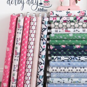 Derby Day Fabric collection by Melissa Mortenson of polkadotchair.com for Riley Blake Designs, fun fabric designs inspired by a day at the Kentucky Derby