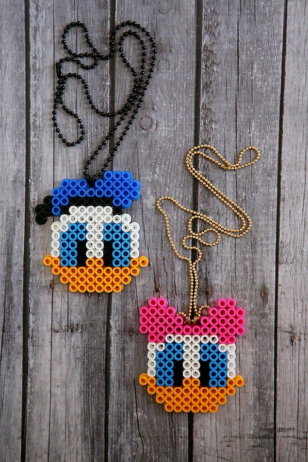 Disney Perler Bead patterns, Daisy and Donald Duck