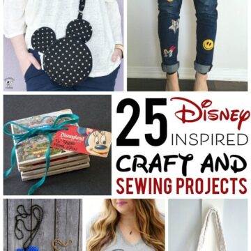 More than 25 Adorable DIY Disney Craft and Sewing Projects - so many fun things to make for Disney, from Fun DIY Disney Family T-shirts, to Mickey Mouse inspired sewing patterns. #DIYDisney #DisneyCrafts #DisneySewing #DIYCraftIideas