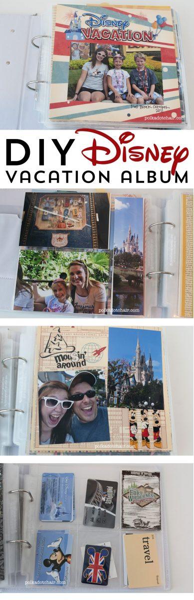 Ideas for a DIY Disney criuse scrapbook or disney travelers notebook
