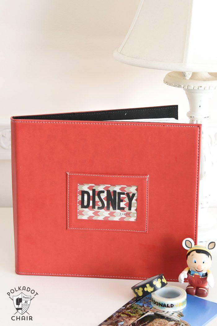 How to make a simple disney vacation scrapbook album
